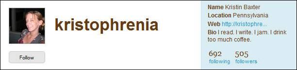 kristophrenia's Twitter profile