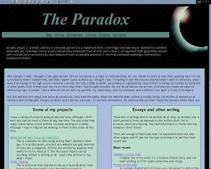 :: the paradox ::