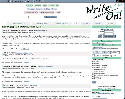 :: write on! ::