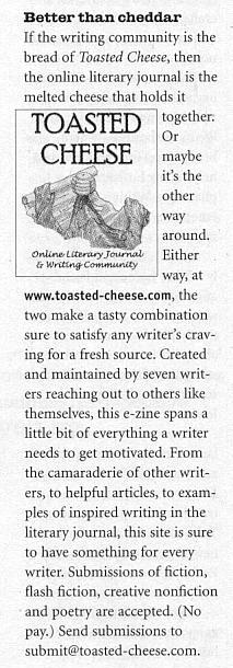 Writer's Digest, March 2002.