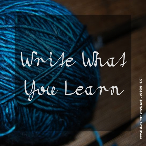 Write What You Learn